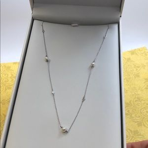 """Perfection"" Pearl & Bezel CZ Simple Chain,NWT"
